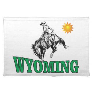 Wyoming cowboy placemat