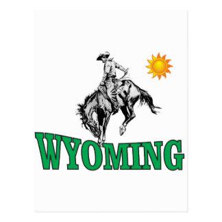 Wyoming cowboy postcard