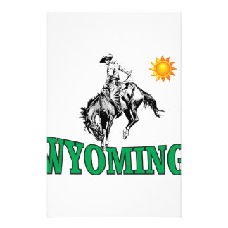 Wyoming cowboy stationery