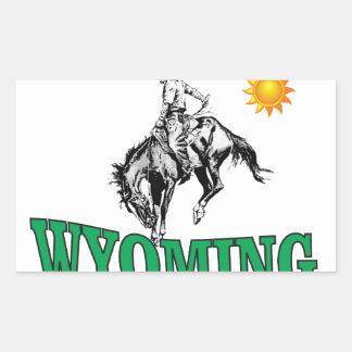Wyoming cowboy sticker