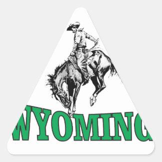 Wyoming cowboy triangle sticker