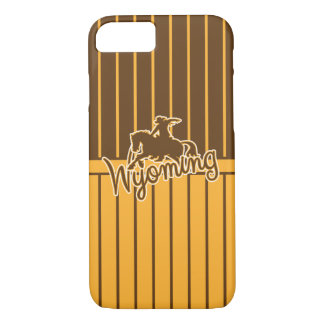 Wyoming Cowboys, Gold and Brown iPhone 7 Case