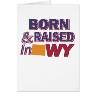 Wyoming design card
