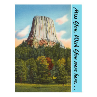 Wyoming, Devil's Tower Postcard