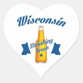 Wyoming Drinking team Heart Sticker