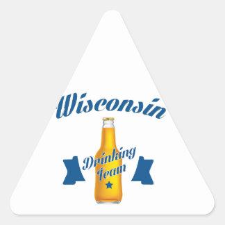 Wyoming Drinking team Triangle Sticker