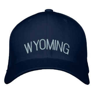 Wyoming Embroidered Hat