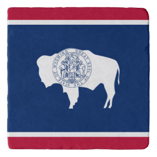 Wyoming flag, American state flag Trivet
