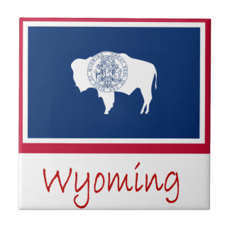 Wyoming Flag And Name Tile