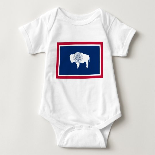 Wyoming Flag Baby Bodysuit