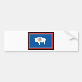 Wyoming Flag Bumper Sticker