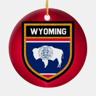 Wyoming Flag Ceramic Ornament