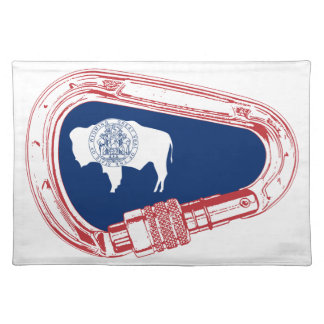 Wyoming Flag Climbing Carabiner Placemat