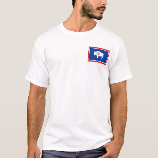 Wyoming Flag + Map T-Shirt
