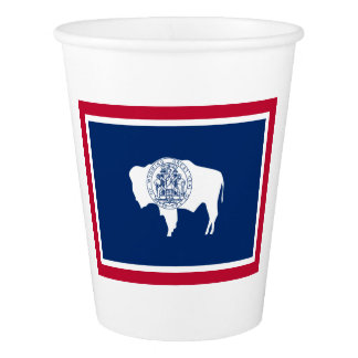 Wyoming Flag Paper Cup