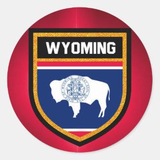 Wyoming Flag Round Sticker