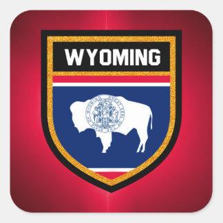 Wyoming Flag Square Sticker