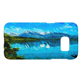 Wyoming Grand Teton Mountains Abstract Samsung Galaxy S7 Case