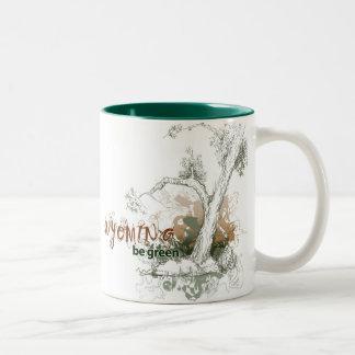 Wyoming Green Tree Mug