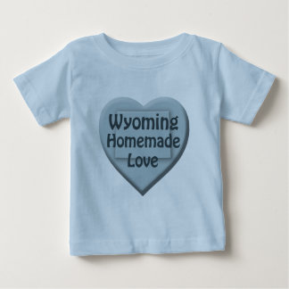 Wyoming Homemade Love Blue Infant Boy T-shirt