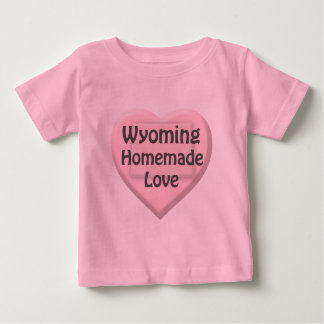 Wyoming Homemade Love Heart Pink Infant T-shirt