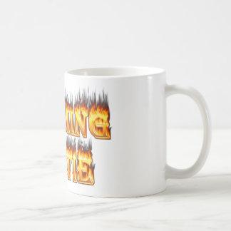 Wyoming hottie fire and flames coffee mug