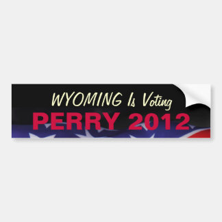WYOMING Is Voting PERRY 2012 Bumper Sticker