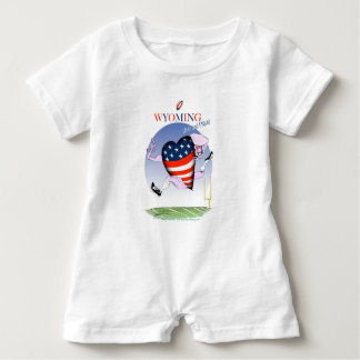 Wyoming loud and proud, tony fernandes baby romper