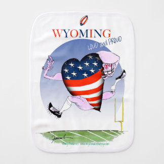 Wyoming loud and proud, tony fernandes burp cloths