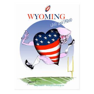 Wyoming loud and proud, tony fernandes postcard