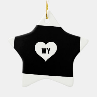 Wyoming Love Ceramic Ornament