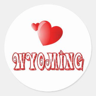 Wyoming Love Classic Round Sticker