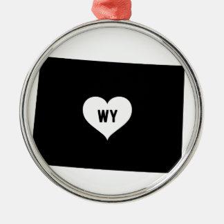 Wyoming Love Metal Ornament