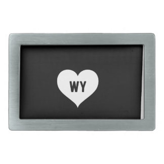 Wyoming Love Rectangular Belt Buckle