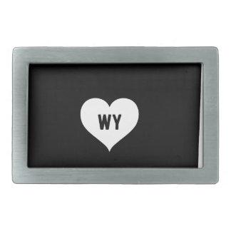 Wyoming Love Rectangular Belt Buckles
