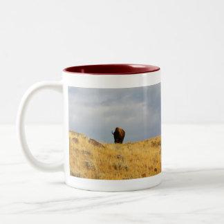 Wyoming Mug-Buffalo 2 Two-Tone Coffee Mug