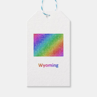 Wyoming Pack Of Gift Tags