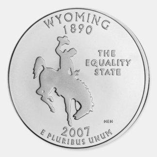 Wyoming Round Sticker
