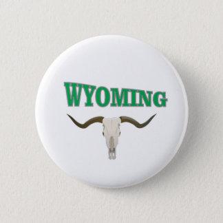 Wyoming skull 2 inch round button