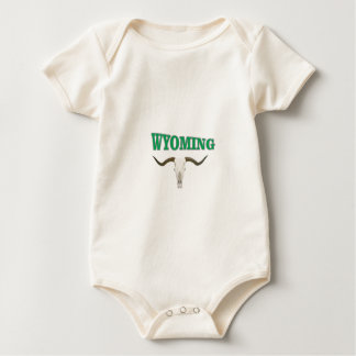 Wyoming skull baby bodysuit