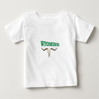 Wyoming skull baby T-Shirt