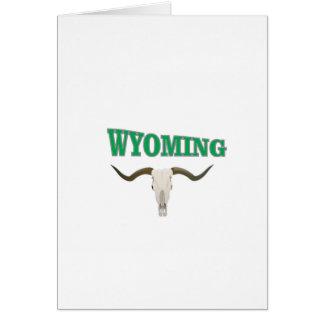 Wyoming skull card