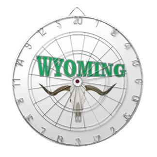 Wyoming skull dartboard