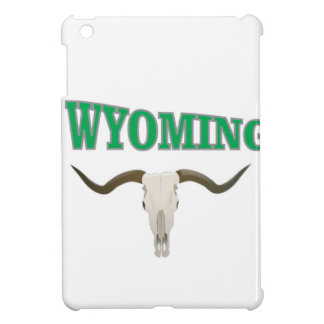 Wyoming skull iPad mini cover