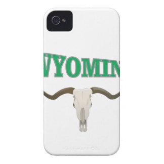 Wyoming skull iPhone 4 Case-Mate cases