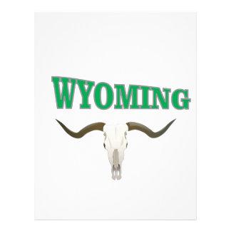 Wyoming skull letterhead