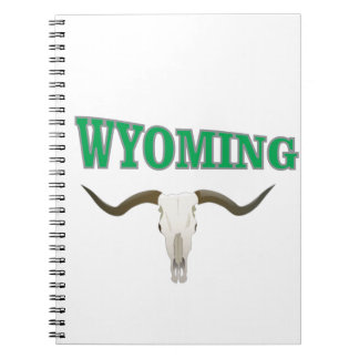 Wyoming skull notebook