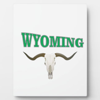 Wyoming skull plaque