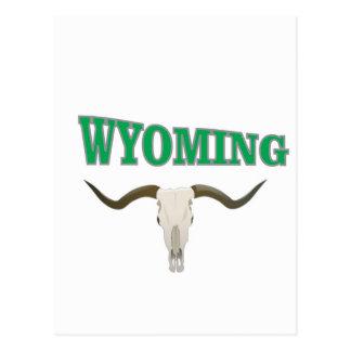 Wyoming skull postcard
