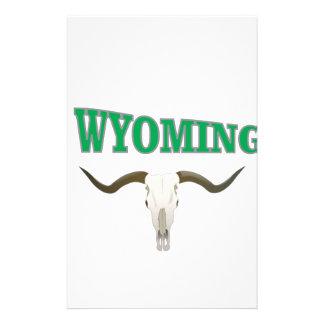 Wyoming skull stationery